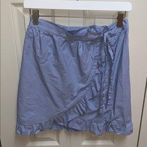 J CREW Mercantile wrap ruffle skirt